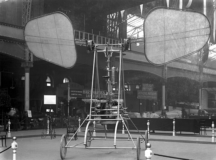 Olympia London 1909   De-la-Hault Orthopter         Flightglobal archives