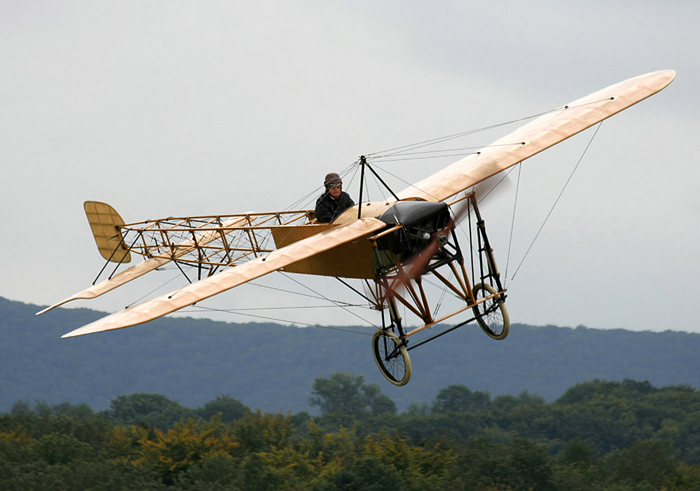 Restored Bleriot XI which recreated Bleriot's crossing of  the English Channel in 1999