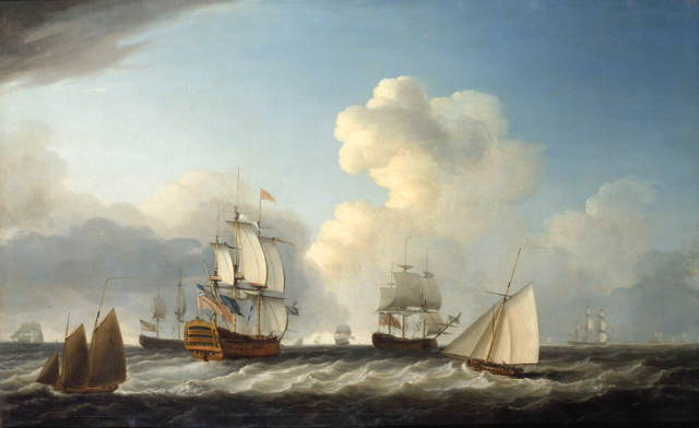HMS St George  -  1787 Wikimedia  PD - uploaded by Dominic Serres