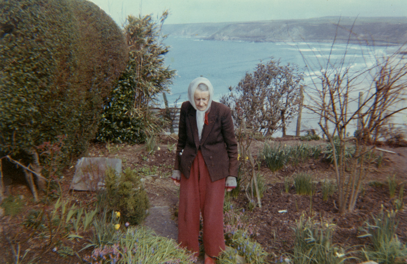 Lilian in her garden (Myra Gleeson collection)