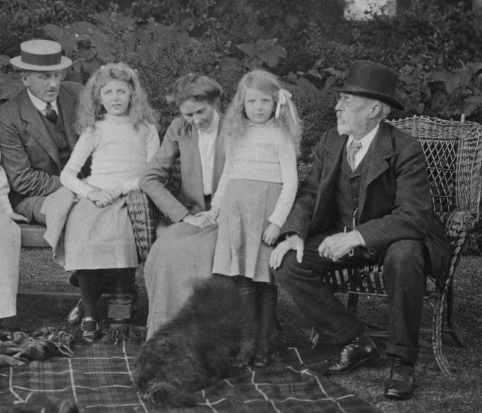William St. Colum Bland, his wife Kathleen Ogilvie, and their two children, Kathleen Frances (19 September 1904) and Margaret Alice (12 July 1907) General Bland is on the right.(photo taken in 1913)