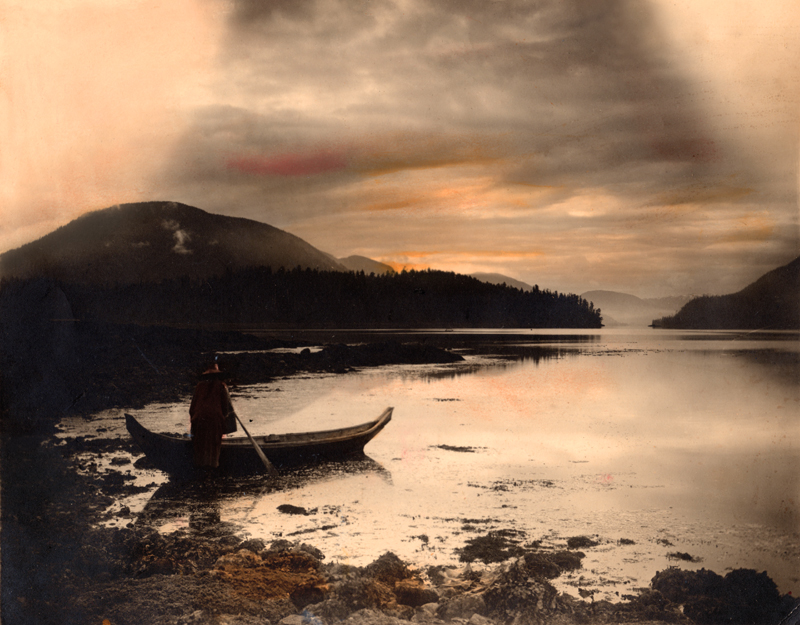 Native with canoe in shallowsBen LeesonPerrie McGhee collection