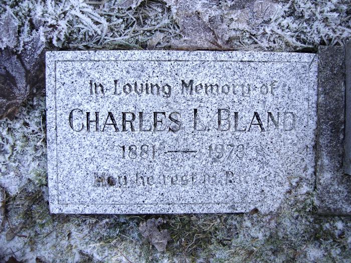Quatsino Cemetery(photo Perrie McGhee)Charles Loftus Bland Lilian Bland's husband