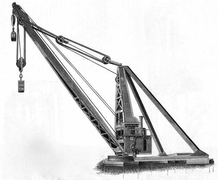 100 ton Derrick Cranecopyright Titanic, Belfast