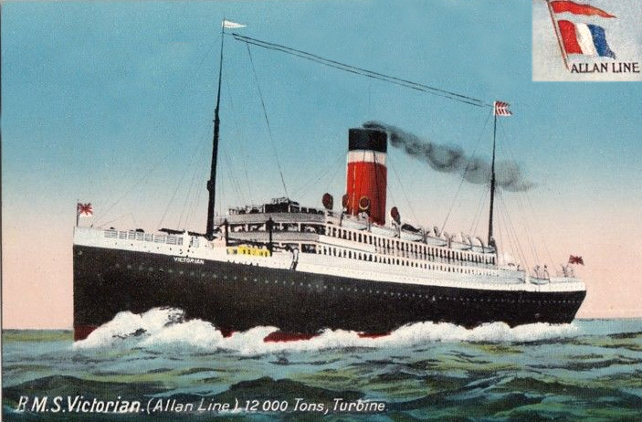 'Victorian'the new turbine driven, triple propeller steamship.